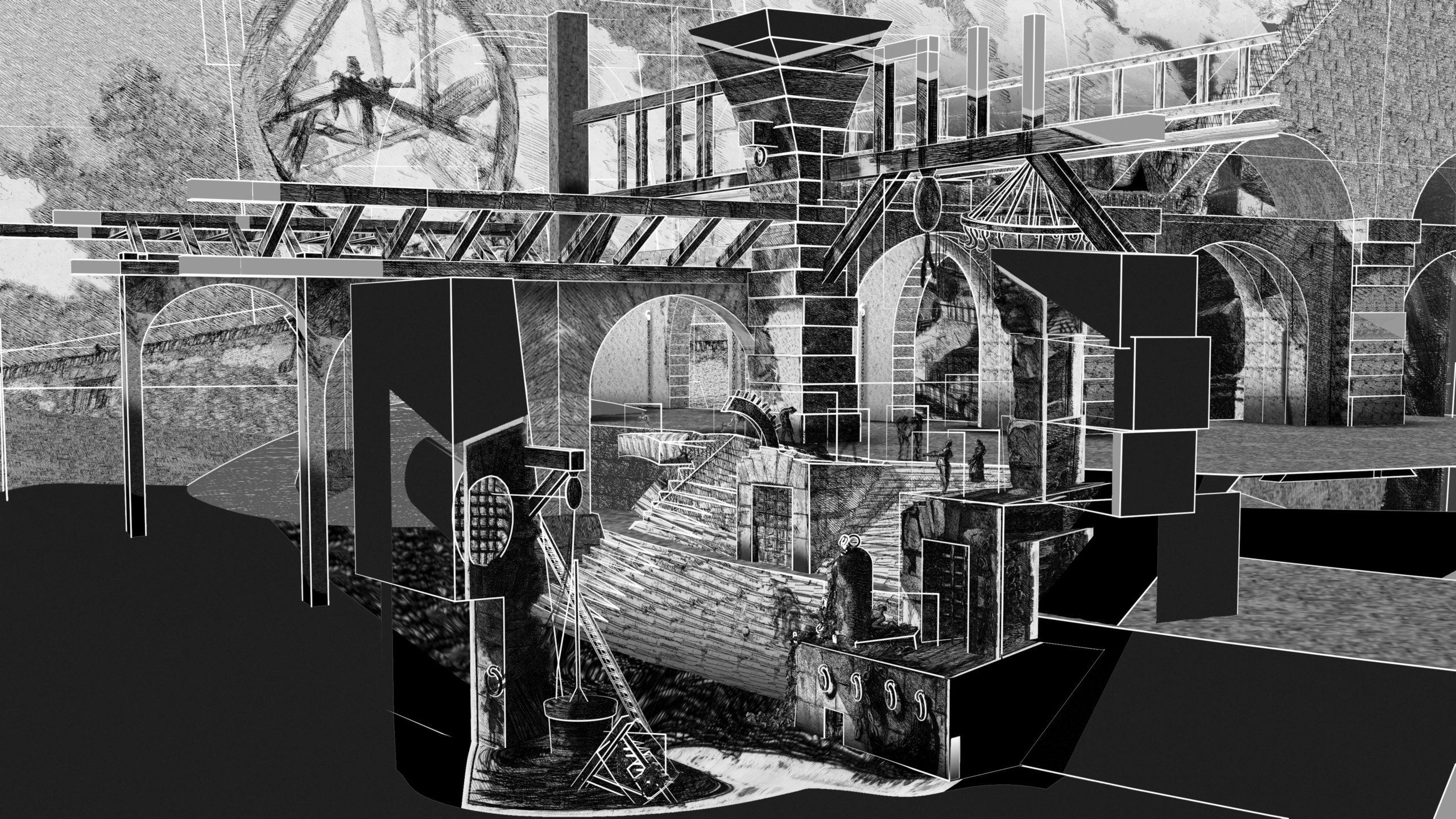 Piranesi Carceri d'Invenzione 3D reconstruction
